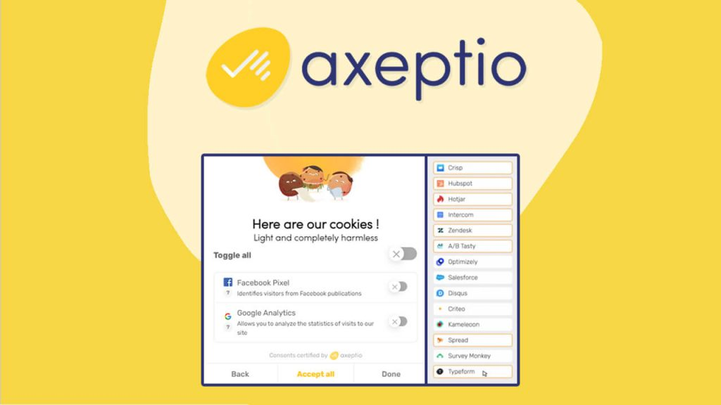 Buy Axeptio, GDPR-Friendly Cookie Consent Manager for just $59/lifetime to collect & manage consents from your website visitors